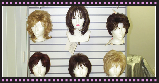Different styles of wigs